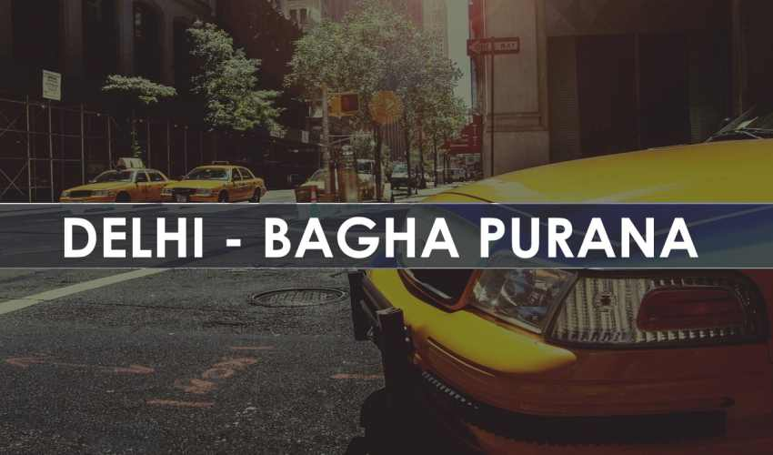 Taxi Delhi to Bagha Purana